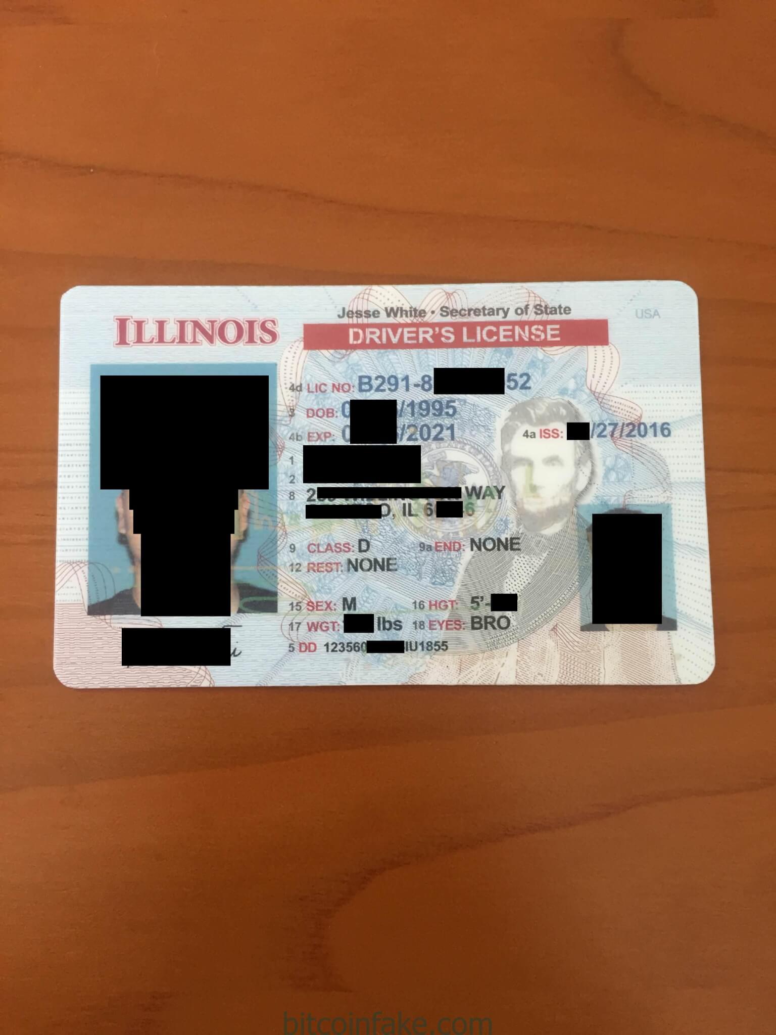 Illinois ID – Buy Scannable Fake ID with Bitcoin.
