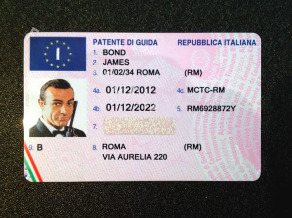 Italy Fake Driving Licence Patente Di Guida Buy Scannable