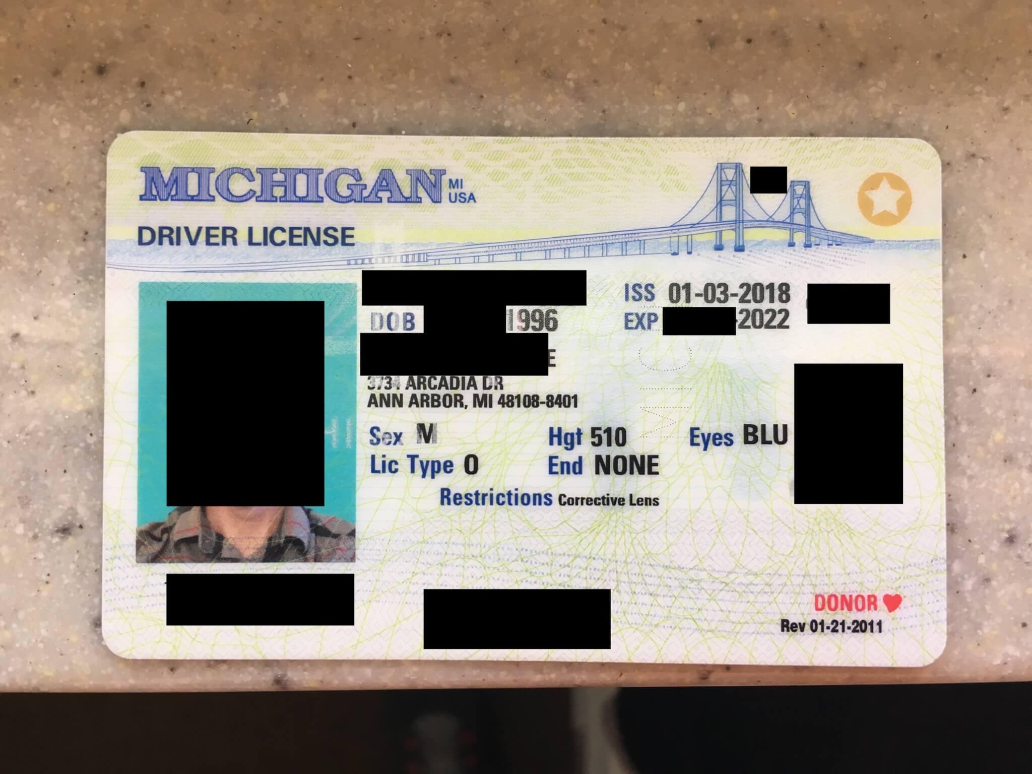 michigan drivers license renewal status