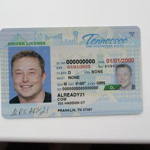 Tennessee fake id